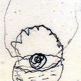 """""""cestino della nonna"""" acrilico su legno cm37x50 - graffio della nonna (2001)"""