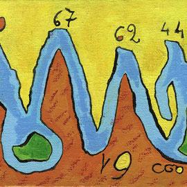 """""""Energia"""" colori acrilici, e segni in gesso su tela cm18x12 (2013)"""
