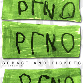 """""""segni di Sebastiano"""" lavorazione con photoshop cm50x70 (2012)"""