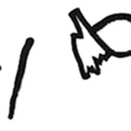"""""""firma di Filippo"""" acrilico e carta su tela  cm... - graffio rubato ad un bambino (1998)"""
