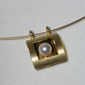 Anhänger Perle, 750/-Gelbgold