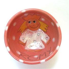"""Müslischale """"kleine Prinzessin"""" / Bestell - Nr. 5601/ 16,- € inklusive ein Wunschname"""