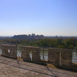 Bild: Aussichtsplattform des Tour de Philippe le Bel in Villeneuve les Avignon