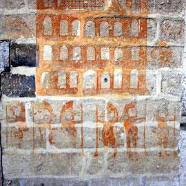 Bild: Fresken an den Wänden des Tour de Philippe le Bel in Villeneuve les Avignon