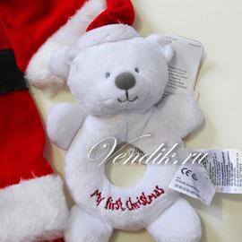 """велюровая погремушка """" My First Christmas """""""