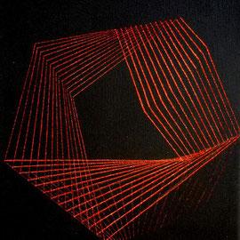 Rojos 3 Acrílico sobre lienzo 30 x 25 cm