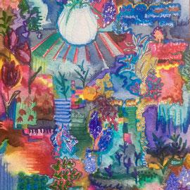 Comporta, Watercolors, 24 x 17 cm. Sold.