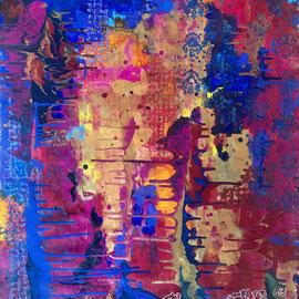 Untitled, Acrylics on Canvas, 82 x 70 cm