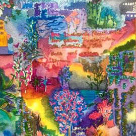 Luz, Watercolors, 24 x 17 cm, Sold.