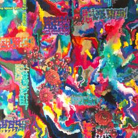 Your ABC has sentenced me, Acrylics/Collage, 70 x 50 cm