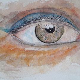 Auge, Acquarell