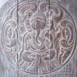 Ganesha, Schnitzerei, Tisch aus Bali