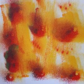 Schwarm:  20 x 20cm Acryl auf Papier
