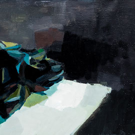 Pierre. 47 cm x 120 cm, huile sur toile. 2019