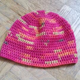 """Mütze """"einach"""" aus dickerem Baumwollmischgarn, für die Übergangszeit und Winter"""