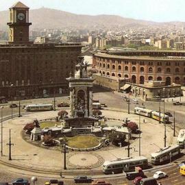 Font de la Plaça Espanya. 1961.