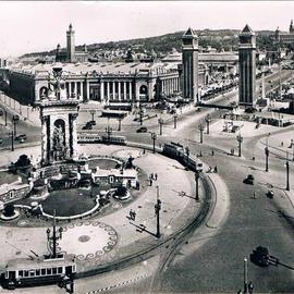 Font de la Plaça Espanya als anys 50.