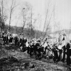 National Day at the end of the IIWW in 1945 at Jøvik