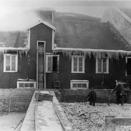 The Jøvik herring oil & concentrates factory in 1913.  The Jøvik area now has a population of 35.