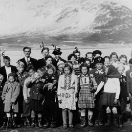 Jøvik schoolchidren in 1950.