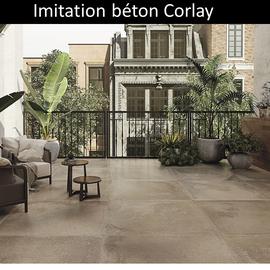 Carrelage extérieur imitation béton Corlay