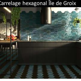 Carrelage hexagonal Ile de Groix pas cher