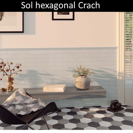 Carrelage sol hexagonal Crach prix pas cher