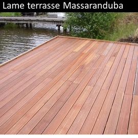 Lame terrasse bois exotique Massaranduba pas cher