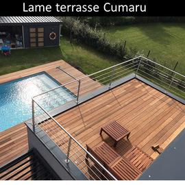 Lame terrasse bois exotique Cumaru pas cher