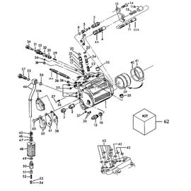 Cilindro hidráulico de levante y sus componentes