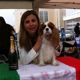 Albert dei Piccoli Demoni con la proprietaria Debora Macchia...Albert è giovane promessa enci