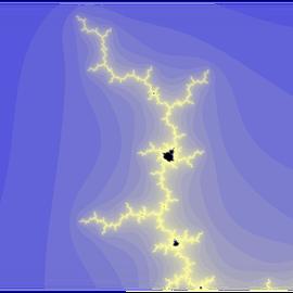Zoom sur une partie de l'ensemble de Mandelbrot
