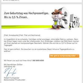 E-Mailing für die DAB Bank