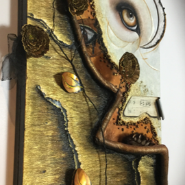 ATOPIA-2019  100cm-70cm Materic Painting in relief, realized in acrylics.