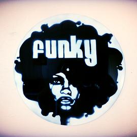 Funky woman street art vinyle
