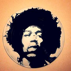 Hendrix street art vinyle