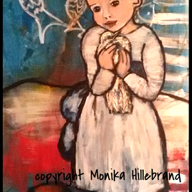 Das Mädchen mit der Taube -frei nach Picasso- 100 x 70