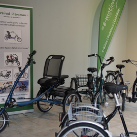 Dreiräder aus dem Dreirad-Zentrum Frankfurt