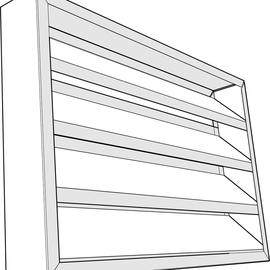 Louvers de aluminio para muro