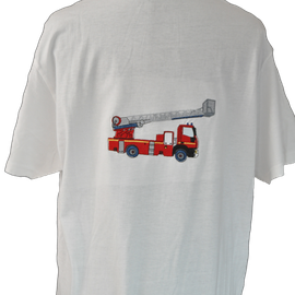 tee shirt brodé pompiers