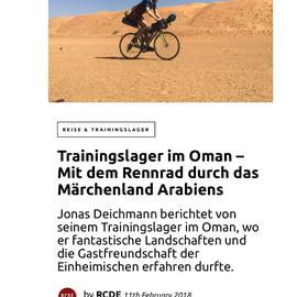Jonas Deichmann mit dem Fahrrad im Oman