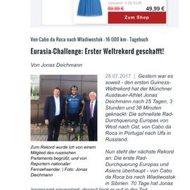 Jonas Deichmann bricht Europa Fahrradweltrekord