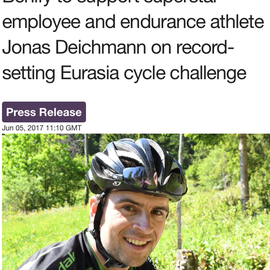 Jonas Deichmann breaks European cycling World Record