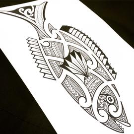 Maori beinflusste Arbeit von Burns Seiken