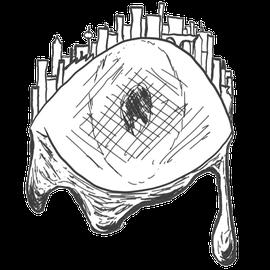 'Tränen der Stadt', 2017, erstellt mit einem geliehenen Graphic-Tablet