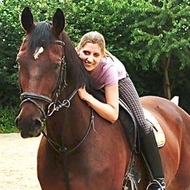 Alina mit Rigo, 20.08.2013.