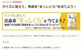 青森県懸賞-青森米まっしぐら-プレゼント