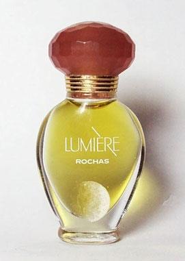 LUMIERE - FLACON AMPHORE VERRE TRANSPARENT - EAU DE PARFUM 3 ML - BOUCHON PLASTIQUE ROSE FONCE - MINIATURE SEULE