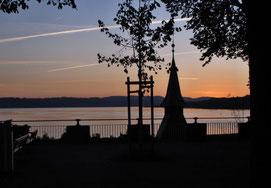 Sonnenuntergang, Rapperswil, Zürichsee, Kapuzinerkloster