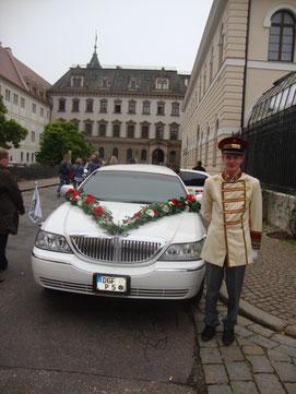 Stretchlimousine im Schloß Thurn und Taxis in Regensburg.